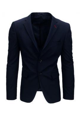 Tmavomodré jednoradové sako pre pánov
