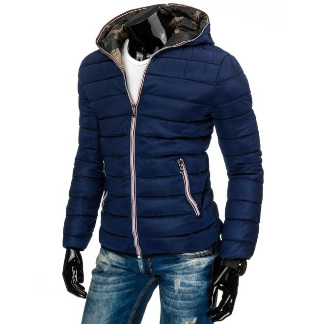 Prechodná pánska bunda v sivej farbe s maskáčovým vnútrom