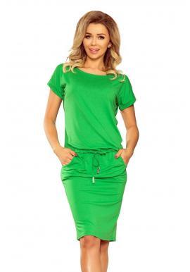Športové dámske šaty zelenej farby s krátkym rukávom