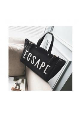 Nákupná dámska taška čiernej farby s nápisom ESCAPE