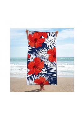 Obdĺžnikový ručník s letnou potlačou na pláž