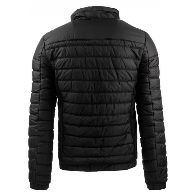 Prešívaná prechodná bunda pre pánov v čiernej farbe