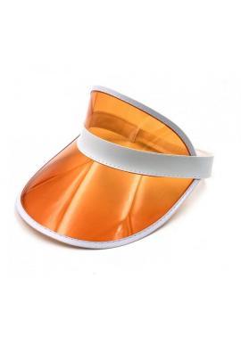 Priesvitná dámska šiltovka oranžovej farby