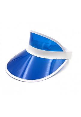 Dámska priesvitná šiltovka v modrej farbe