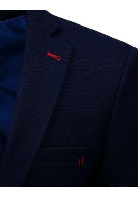 Neformálne pánske sako tmavomodrej farby s jedným gombíkom