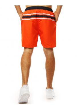 Štýlové pánske kraťasy oranžovej farby na kúpanie