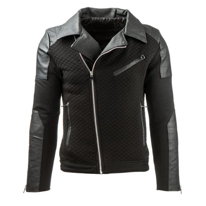 Čierna prechodná bunda Ramoneska pre pánov