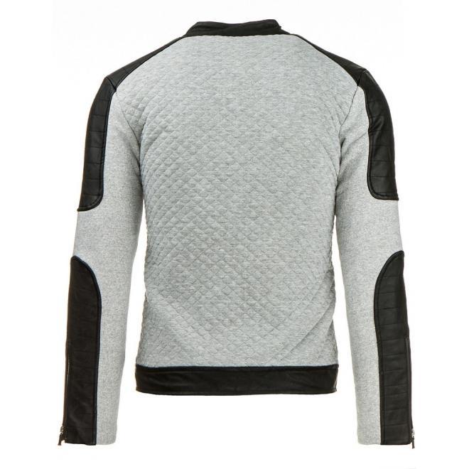 Sivá bunda Ramoneska na prechodné obdobie pre pánov