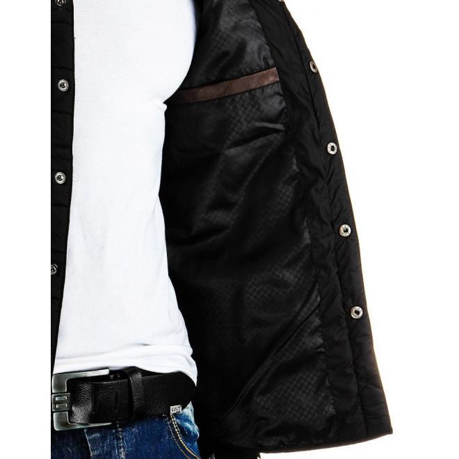 Prechodná pánska bunda tmavomodrej farby