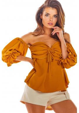 Ťavia letná blúzka s odhalenými ramenami pre dámy