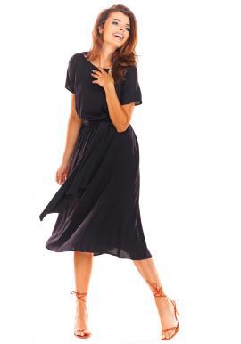 Čierne elegantné šaty na leto pre dámy