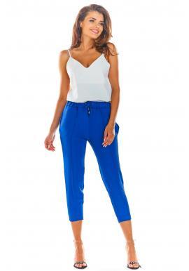 Modré módne nohavice pre dámy