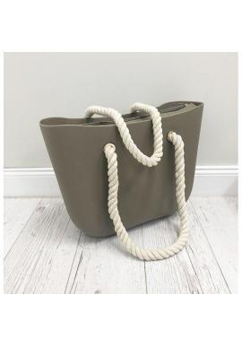 Béžová silikónová kabelka pre dámy