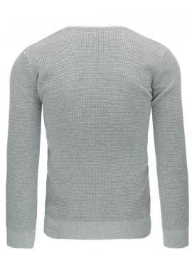 Čierny pánsky sveter s výstrihom V
