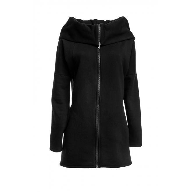 Dámska mikina na zips - čierna