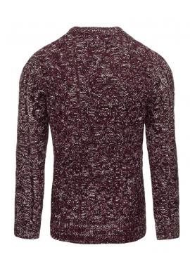 Tmavomodrý pánsky sveter s výstrihom V