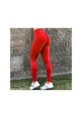 Športové dámske legíny červenej farby