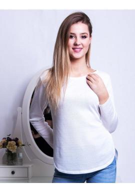 Klasická dámska blúzka bielej farby s dlhým rukávom