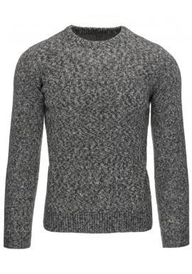 Klasický pánsky sveter v sivej farbe