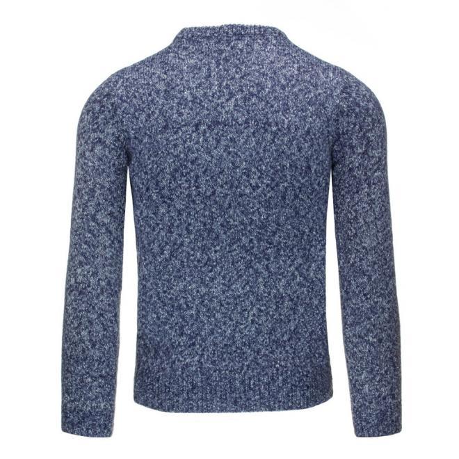 Pánsky bordový sveter s okrúhlym golierom