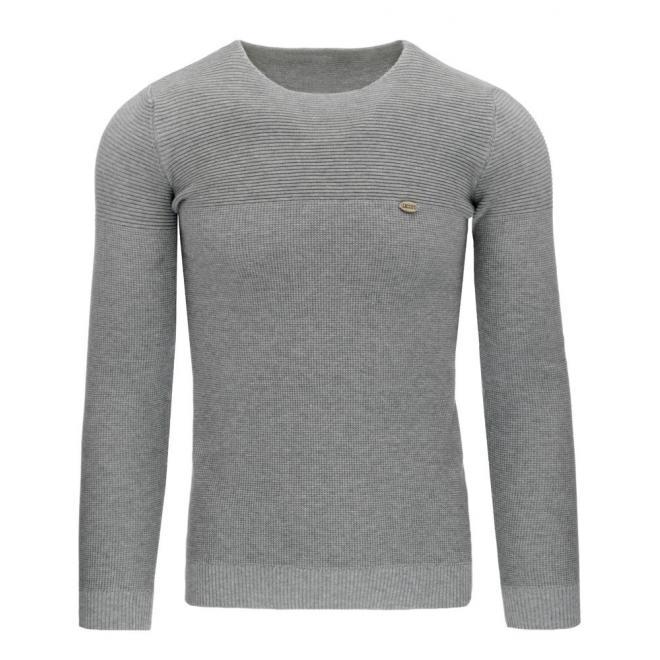 Klasický pánsky sveter v tmavomodrej farbe