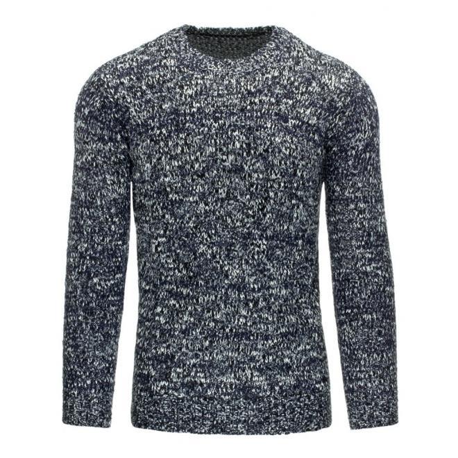 Klasický sveter pre pánov v sivej farbe