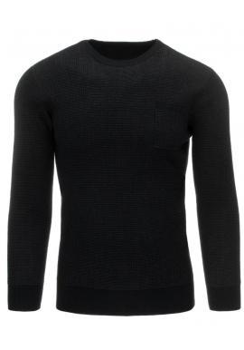 Klasický bordový sveter s okrúhlym výstrihom