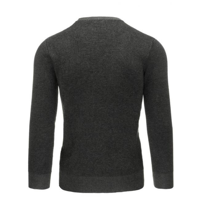 Klasický sveter s vreckom na hrudi bordovej farby