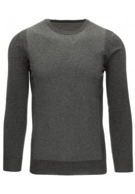 Klasický tmavomodrý sveter s okrúhlym výstrihom