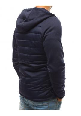 Pánska prešívaná bunda na prechodné obdobie v tmavomodrej farbe
