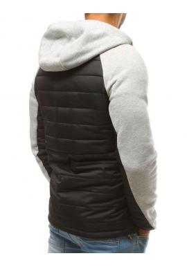 Prešívaná pánska bunda sivej farby na prechodné obdobie