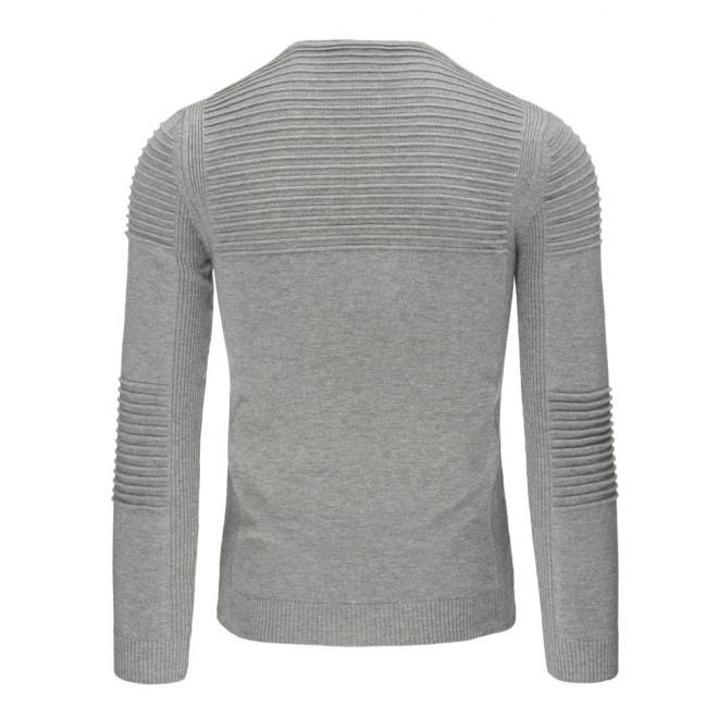 Biely pánsky sveter s okrúhlym výstrihom