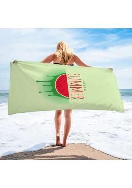 Plážový ručník zelenej farby s potlačou melóna