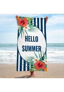 Plážový ručník s farebnou letnou potlačou