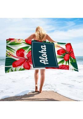 Farebný plážový ručník s tropickým motívom