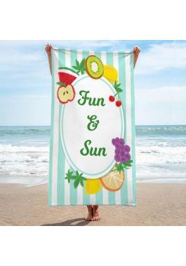 Farebný plážový ručník s letnou potlačou