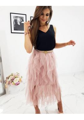 Dámska dvojvrstvová sukňa v ružovej farbe