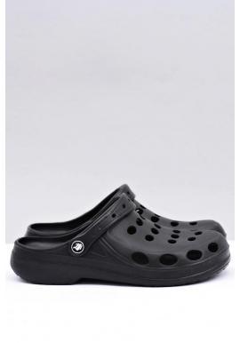 Pánske módne šľapky kroksy v čiernej farbe