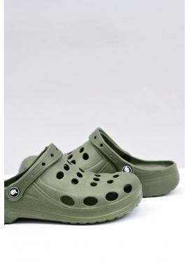 Zelené módne šľapky kroksy pre pánov