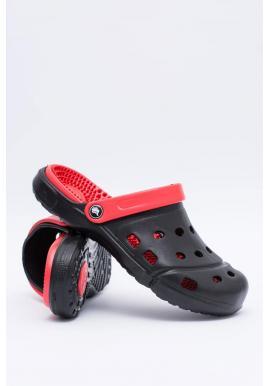 Čierne záhradné šľapky kroksy pre pánov