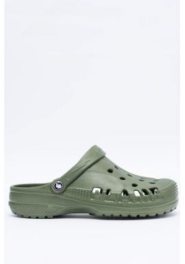 Módne pánske šľapky kroksy zelenej farby k bazénu