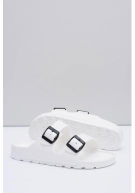 Biele ľahké šľapky s regulovateľnými pásmi pre pánov