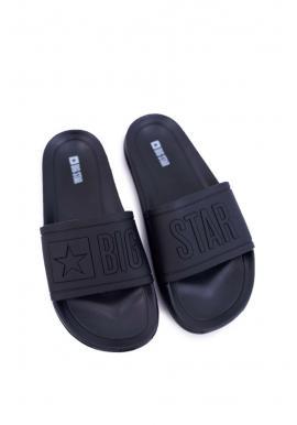 Čierne gumené šľapky Big Star pre pánov