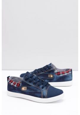 Pánske džínsové tenisky v modrej farbe