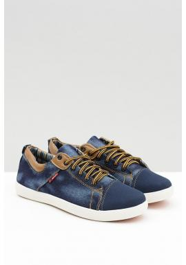 Džínsové pánske tenisky modrej farby