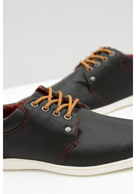 Čierne módne tenisky pre pánov