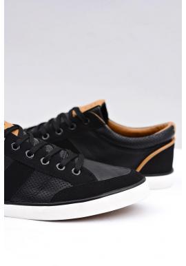 Pánske štýlové tenisky v čiernej farbe