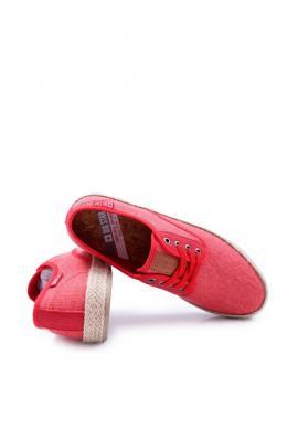 Pánske módne tramky Big Star v červenej farbe