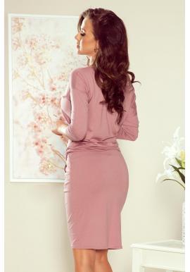 Športové dámske šaty ružovej farby s viazaním