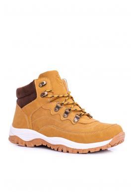 Svetlohnedé trekingové topánky s oteplením pre pánov
